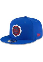 New Era Detroit Pistons Blue 2020 Alt City Series 9FIFTY Mens Snapback Hat