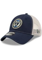 New Era Philadelphia Union Casual Classic Meshback Adjustable Hat - Navy Blue