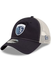 New Era Sporting Kansas City Casual Classic Meshback Adjustable Hat - Navy Blue
