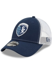 New Era Sporting Kansas City Team Truckered 9FORTY Adjustable Hat - Navy Blue