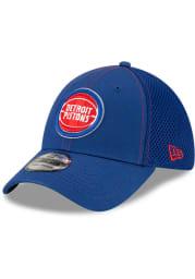 New Era Detroit Pistons Mens Blue Team Neo 39THIRTY Flex Hat