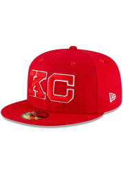 New Era Kansas City Monarchs Mens Red 2020 Negro Leagues Game Fitted Hat