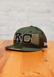 New Era Kansas City Monarchs Mens Green 2020 NLB Game 59FIFTY Fitted Hat