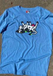 New Era Wichita Wind Surge Light Blue COPA Short Sleeve T Shirt