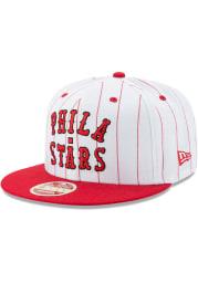 New Era Philadelphia Stars White Jersey Striped 9FIFTY Mens Snapback Hat
