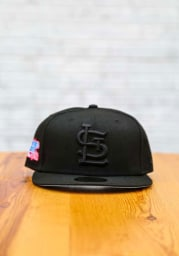 New Era St Louis Cardinals Mens Black Tonal Sky Blue UV 1982 WS Side Patch 59FIFTY Fitted Hat
