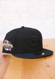 New Era Arizona Diamondbacks Mens Black Tonal Green UV 2001 WS Side Patch 59FIFTY Fitted Hat