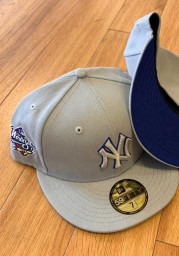 New Era New York Yankees Mens Grey Tonal Royal Pop 1998 WS Side Patch 59FIFTY Fitted Hat