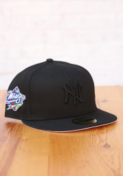 New Era New York Yankees Mens Black Tonal White UV 1998 WS Side Patch 59FIFTY Fitted Hat