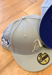 New Era Philadelphia Athletics Mens Grey Tonal Royal Pop 1929 WS Side Patch 59FIFTY Fitted Hat