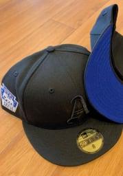 New Era Philadelphia Athletics Mens Black Tonal Royal UV 1929 WS Side Patch 59FIFTY Fitted Hat