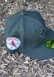 New Era St Louis Cardinals Mens Black Tonal 1942 World Series Side Patch 59FIFTY Fitted Hat