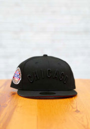 New Era Chicago Cubs Mens Black Tonal Red UV 1907 WS Side Patch 59FIFTY Fitted Hat