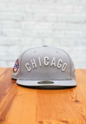 New Era Chicago Cubs Mens Grey Tonal Royal Pop 1907 WS Side Patch 59FIFTY Fitted Hat