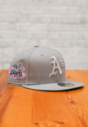 New Era Oakland Athletics Mens Grey Tonal Green Pop 1989 WS Side Patch 59FIFTY Fitted Hat