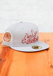 New Era St Louis Cardinals Mens Grey Tonal Red Pop 1926 WS Side Patch 59FIFTY Fitted Hat