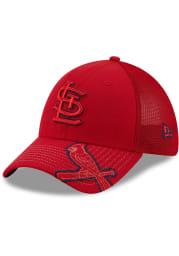 New Era St Louis Cardinals Red JR Pop Visor 39THIRTY Youth Flex Hat
