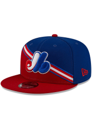 New Era Montreal Expos Blue Color Cross 9FIFTY Mens Snapback Hat
