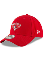 New Era St Louis Cardinals 2020 Postseason Locker Room 9FORTY Adjustable Hat - Red