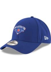 New Era Chicago Cubs 2020 Postseason Locker Room 9FORTY Adjustable Hat - Blue