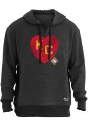 New Era Kansas City Monarchs Mens Black KC Heart Fashion Hood