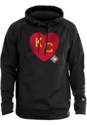 New Era Kansas City Monarchs Mens Black KC Heart Long Sleeve Hoodie
