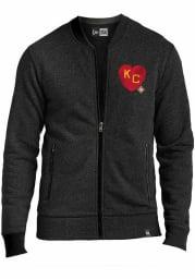 New Era Kansas City Monarchs Mens Black KC Heart Long Sleeve Full Zip Jacket