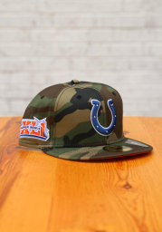 New Era Indianapolis Colts Mens Green Super Bowl Side Patch 59FIFTY Fitted Hat