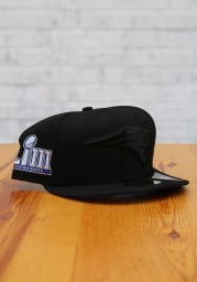 New Era New England Patriots Mens Black Tonal Super Bowl Side Patch 59FIFTY Fitted Hat