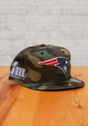 New Era New England Patriots Mens Green Super Bowl Side Patch 59FIFTY Fitted Hat