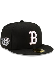 New Era Boston Red Sox Mens Black Side Patch Paisley UV 59FIFTY Fitted Hat