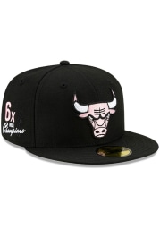 New Era Chicago Bulls Mens Black Side Patch Paisley UV 59FIFTY Fitted Hat