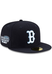 New Era Boston Red Sox Mens Navy Blue Side Patch Paisley UV 59FIFTY Fitted Hat