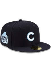 New Era Chicago Cubs Mens Navy Blue Side Patch Paisley UV 59FIFTY Fitted Hat