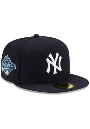 New Era New York Yankees Mens Navy Blue Side Patch Paisley UV 59FIFTY Fitted Hat
