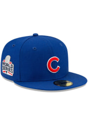 New Era Chicago Cubs Mens Blue Side Patch Paisley UV 59FIFTY Fitted Hat