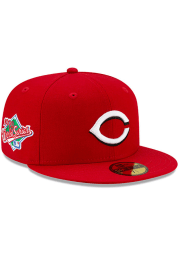 New Era Cincinnati Reds Mens Red Side Patch Paisley UV 59FIFTY Fitted Hat