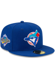 New Era Toronto Blue Jays Mens Blue Side Patch Paisley UV 59FIFTY Fitted Hat