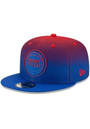 New Era Detroit Pistons Blue NBA Back Half 9FIFTY Mens Snapback Hat