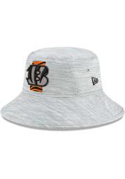 New Era Cincinnati Bengals Grey 2021 Training Camp Stretch Mens Bucket Hat