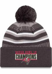 New Era Tampa Bay Buccaneers Grey Super Bowl LV Champions Parade Knit Mens Knit Hat