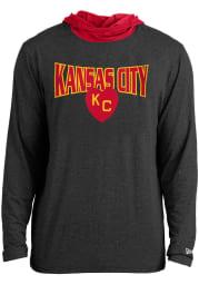 New Era Kansas City Monarchs Mens Charcoal Arched Kansas City Hood