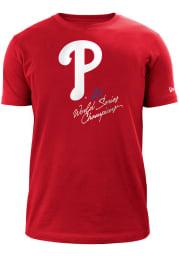 New Era Philadelphia Phillies Red World Champions Short Sleeve T Shirt