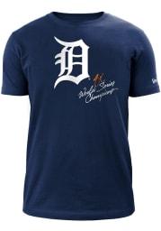 New Era Detroit Tigers Navy Blue World Champions Short Sleeve T Shirt