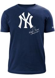 New Era New York Yankees Navy Blue World Champions Short Sleeve T Shirt