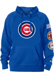New Era Chicago Cubs Mens Blue World Champions Long Sleeve Hoodie