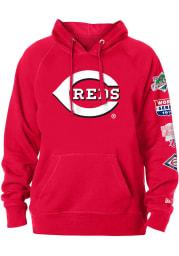 New Era Cincinnati Reds Mens Red World Champions Long Sleeve Hoodie