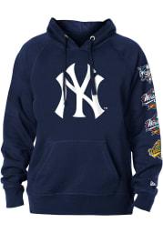 New Era New York Yankees Mens Navy Blue World Champions Long Sleeve Hoodie