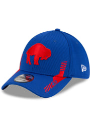 New Era Buffalo Bills Mens Blue 2021 Sideline Home 39THIRTY Flex Hat