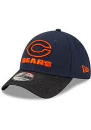 New Era Chicago Bears Mens Navy Blue 2021 Sideline Road 39THIRTY Flex Hat